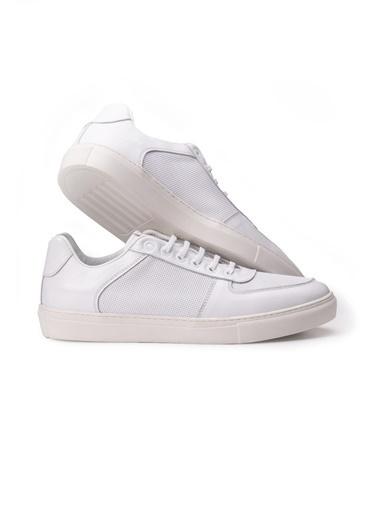 Letoon 2120 Erkek Deri Spor Ayakkabı Beyaz